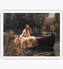 John William Waterhouse - The Lady Of Shalott 1888 Sticker