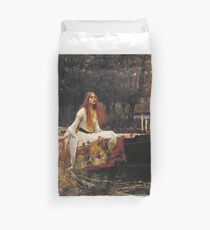 John William Waterhouse - The Lady Of Shalott 1888 Duvet Cover