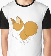 Heart Corgi Graphic T-Shirt
