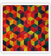 Colorful Isometric Cubes Sticker
