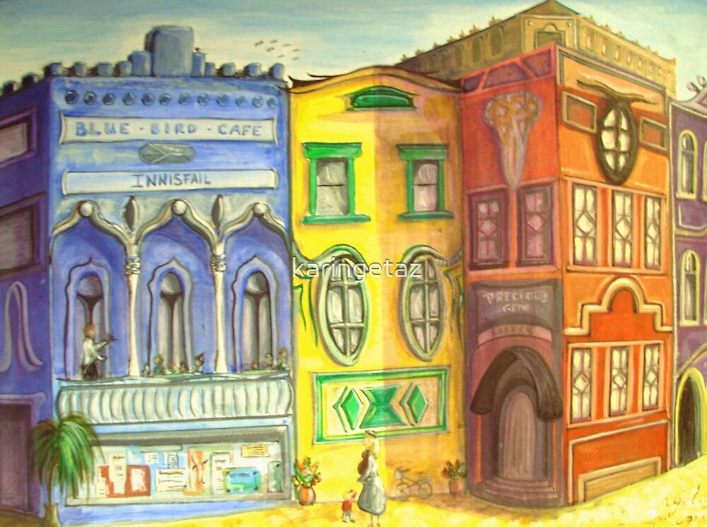 The Blue Bird Cafe by karingetaz