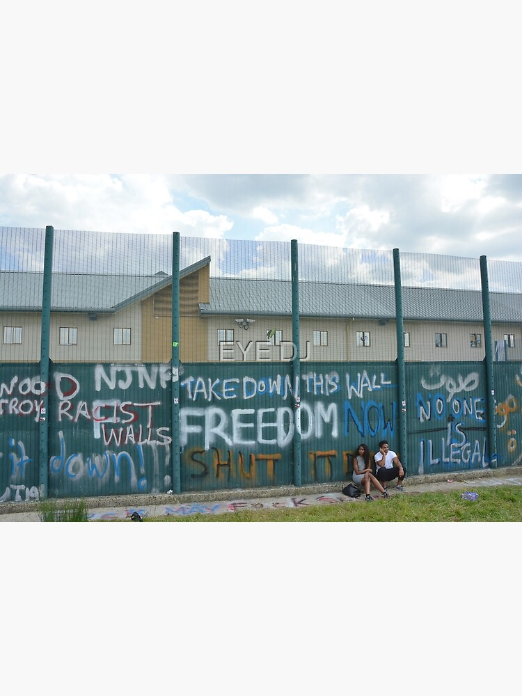 Yarl's Wood Perimeter Wall, Immigration Detention Centre. by iDJPhotography