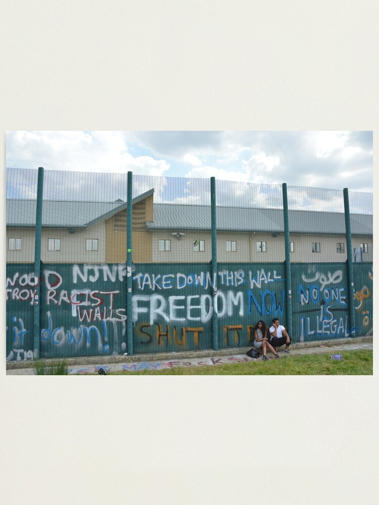 Alternate view of Yarl's Wood Perimeter Wall, Immigration Detention Centre. Photographic Print