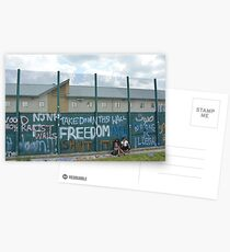 Yarl's Wood Perimeter Wall, Immigration Detention Centre. Postcards