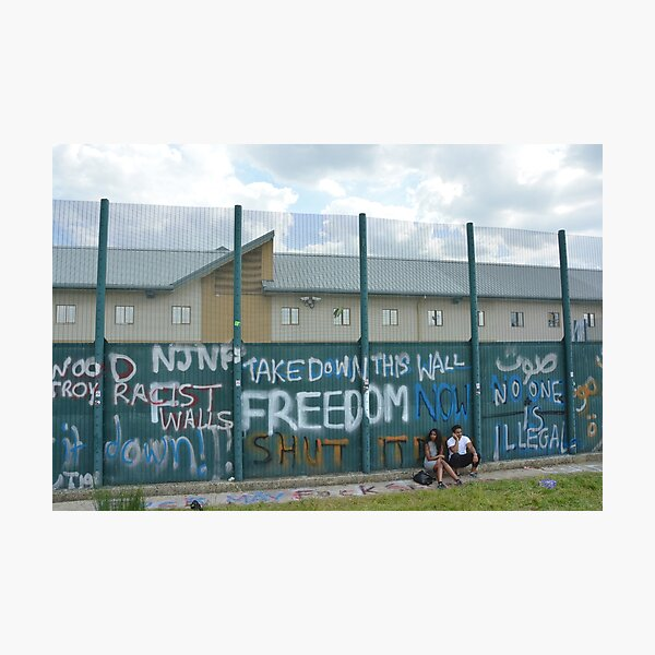 Yarl's Wood Perimeter Wall, Immigration Detention Centre. Photographic Print