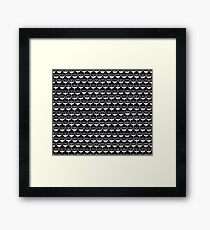 Infinite Typewriter_ Bg Black Framed Print