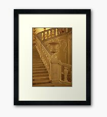Marble staircase with vase Framed Print