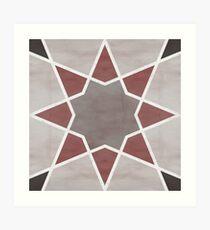 Cordoba tiles - grey and red Lámina artística