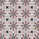 «Cordoba tiles - grey and red» de imaginadesigns