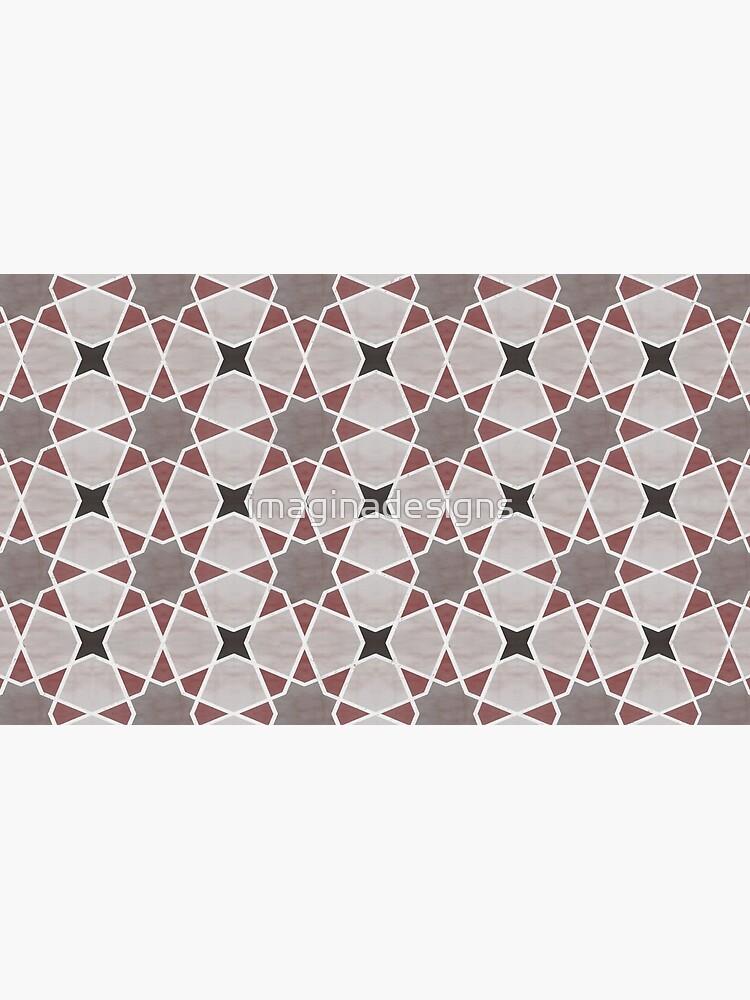 Cordoba tiles - grey and red de imaginadesigns