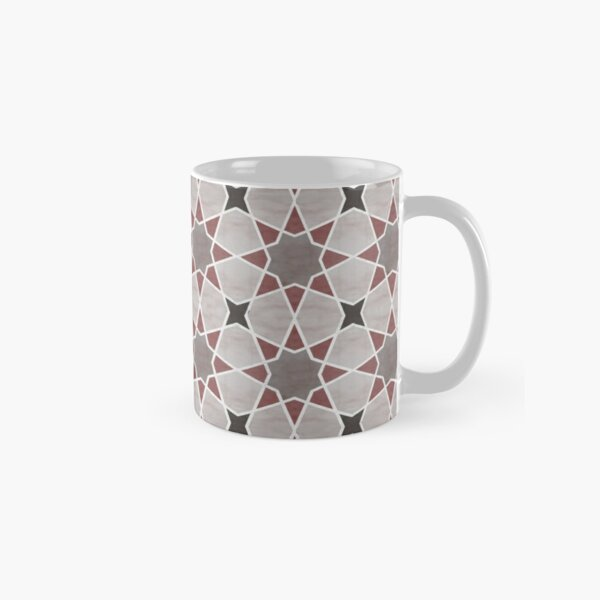 Cordoba tiles - grey and red Taza clásica