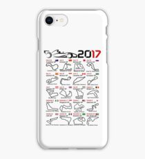 Calendar F1 2017 named circuits white iPhone Case/Skin