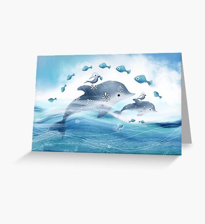 Dolphin Love Greeting Card