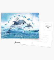 Dolphin Love Postcards