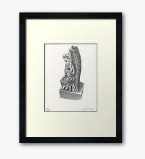 Weeping Angel Statue Framed Print