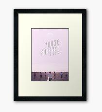 BTS/Bangtan Sonyeondan - Young Forever (Pink) Framed Print
