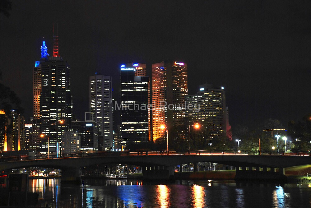 Melbourne by the yarra by Michael Rowley