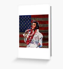 Elvis in Aloha white suit  Greeting Card