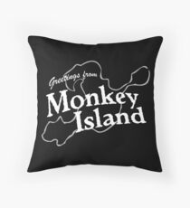 GREETINGS FROM MONKEY ISLAND Throw Pillow
