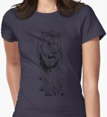 Big Male Lion on Patrol | African Wildlife Womens Fitted T-Shirt