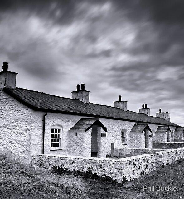 Pilots Cottages Llanddwyn Island by Phil Buckle