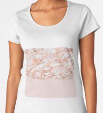 Blushing rose gold marble I Women's Premium T-Shirt