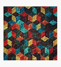 Colorful Isometric Cubes II Photographic Print