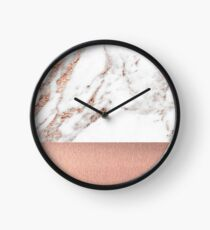 Reloj Rose gold marble and foil