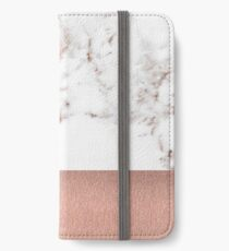 Vinilo o funda para iPhone Rose gold marble and foil
