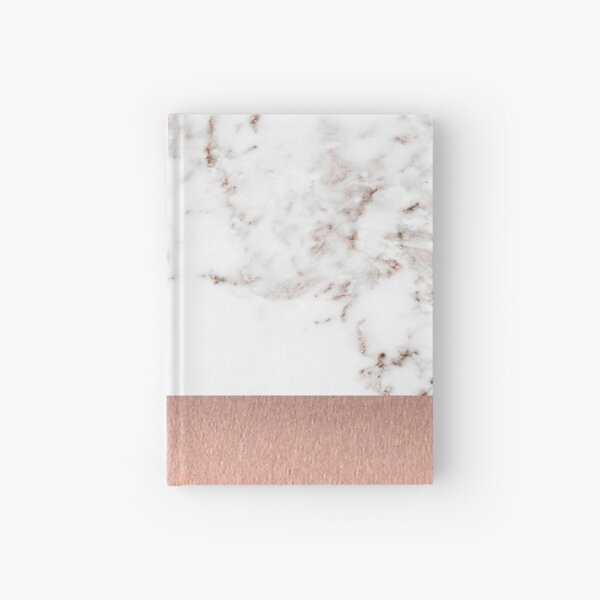 Rose gold marble and foil Hardcover Journal