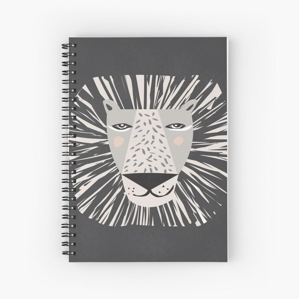 Friendly Lion Spiral Notebook