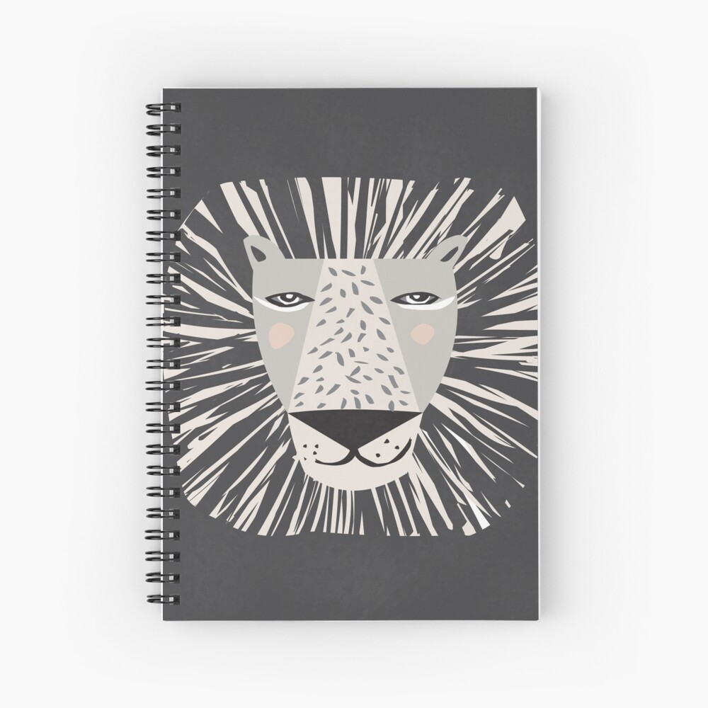 Friendly Lion Spiral Notebook