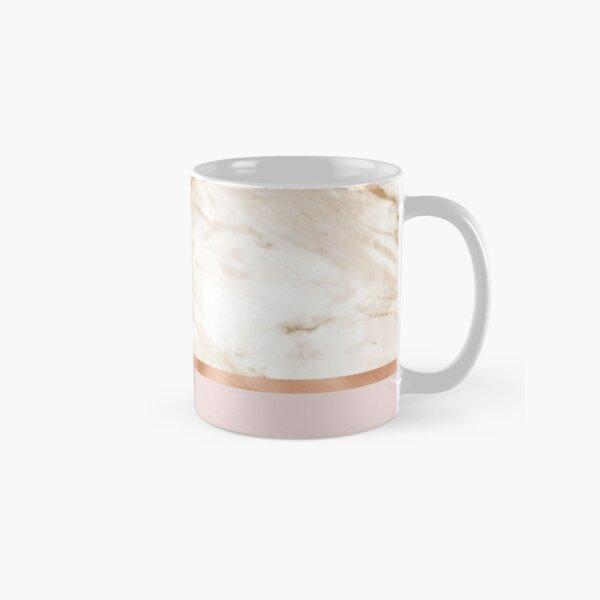 Caramel marble on rose gold blush Classic Mug
