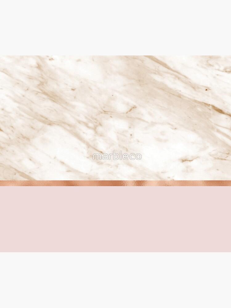 Karamellmarmor auf Roségold erröten von marbleco