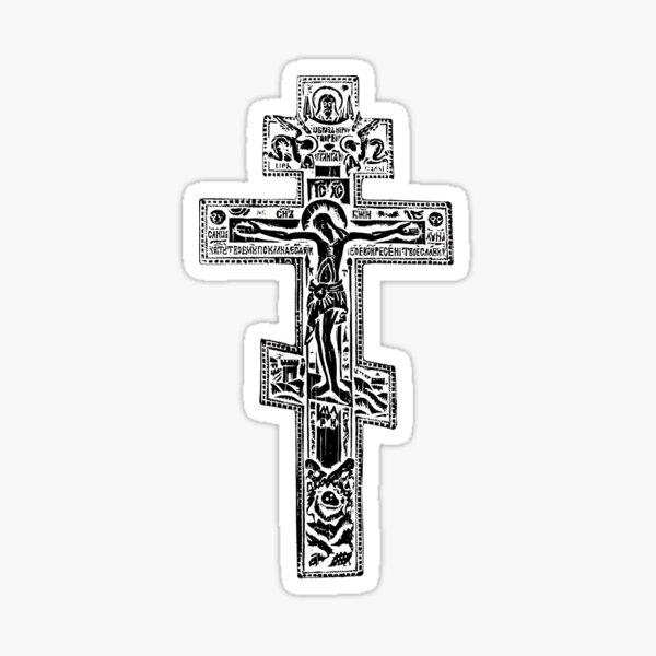 Orthodox cruxifix Sticker