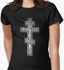 Orthodox Crucifix Womens Fitted T-Shirt