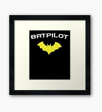 BATPILOT - Super Hero PILOT Captain Aviator  Framed Print