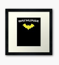 BATNURSE - Super Hero Nurse Medical RN  Framed Print