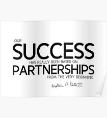 success based on partnerships - bill gates Poster