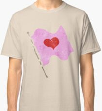 retro cartoon love heart flag Classic T-Shirt