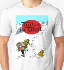 Tintin in Tibet Cover Print Unisex T-Shirt
