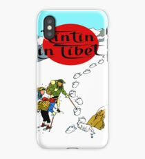 Tintin in Tibet Cover Print iPhone Case/Skin