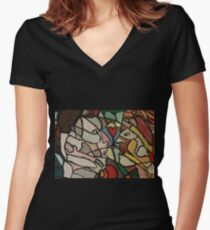Colourful Love Women's Fitted V-Neck T-Shirt