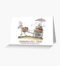 Terrorcatta Army, silence when talking to me, tony fernandes Greeting Card