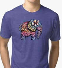 Tattoo Elephant TShirt Tri-blend T-Shirt