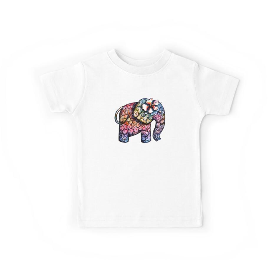Tattoo Elephant TShirt by Karin Taylor