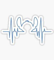 Stitch heartbeat Sticker