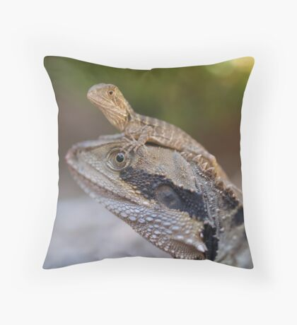 Dad and Baby Throw Pillow