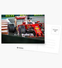 Sebastian Vettel formula 1 Postcards