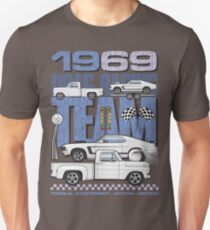 69 White&Blue Racing Team Unisex T-Shirt